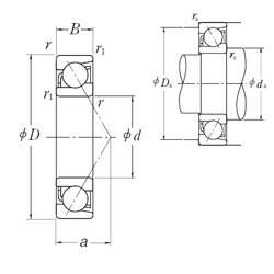 15 mm x 32 mm x 9 mm  NSK 7002 A roulements à billes à contact oblique