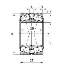 FAG 31322-X-N11CA Roulements à rouleaux coniques