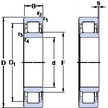 45 mm x 100 mm x 25 mm  SKF NU 309 ECML butées à billes