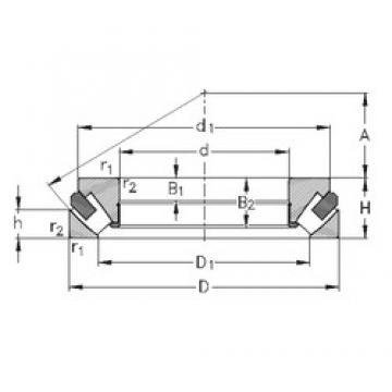 NKE 29340-M roulements à rouleaux de poussée