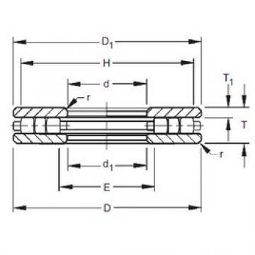 Timken 60TP124 roulements à rouleaux de poussée