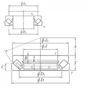 630 mm x 1090 mm x 100 mm  KOYO 294/630 roulements à rouleaux de poussée