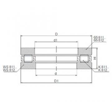 ISO 81206 roulements à rouleaux de poussée