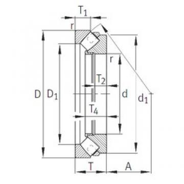 INA 29496-E1-MB roulements à rouleaux de poussée