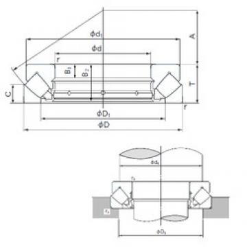 280 mm x 380 mm x 19 mm  NACHI 29256E roulements à rouleaux de poussée