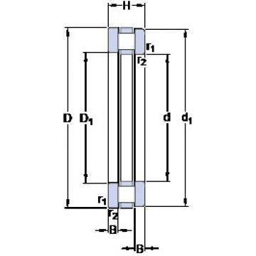1120 mm x 1320 mm x 34 mm  SKF 891/1120 M roulements à rouleaux de poussée