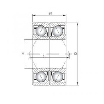 ISO 7240 BDB roulements à billes à contact oblique