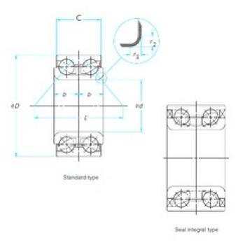 51 mm x 91 mm x 44 mm  Timken WB000011 roulements à billes à contact oblique