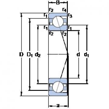140 mm x 250 mm x 42 mm  SKF 7228 CD/P4A roulements à billes à contact oblique