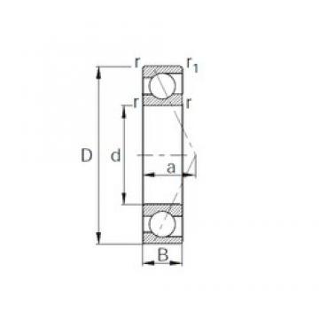 40 mm x 52 mm x 7 mm  CYSD 7808C roulements à billes à contact oblique