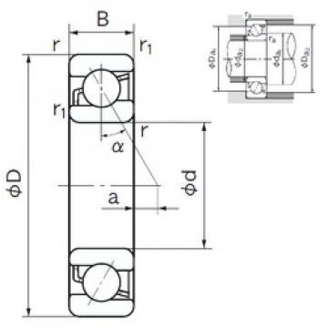 190 mm x 340 mm x 55 mm  NACHI 7238B roulements à billes à contact oblique