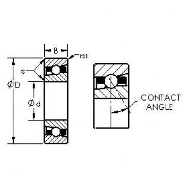 AST H7016AC/HQ1 roulements à billes à contact oblique