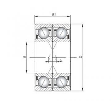 ISO 7236 CDF roulements à billes à contact oblique