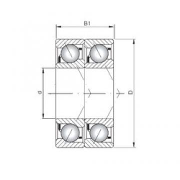 ISO 7318 CDT roulements à billes à contact oblique