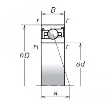 70 mm x 100 mm x 19 mm  NSK 70BER29SV1V roulements à billes à contact oblique