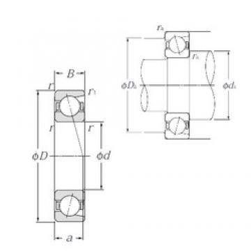 20 mm x 52 mm x 15 mm  NTN 7304B roulements à billes à contact oblique