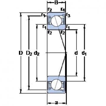 35 mm x 72 mm x 17 mm  SKF S7207 ACD/HCP4A roulements à billes à contact oblique