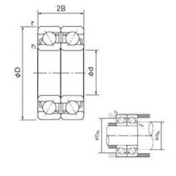 130 mm x 280 mm x 58 mm  NACHI 7326DF roulements à billes à contact oblique