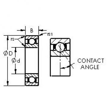 AST 7048C roulements à billes à contact oblique