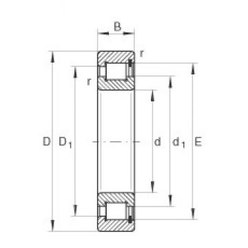 40 mm x 80 mm x 23 mm  INA SL182208 roulements à rouleaux cylindriques