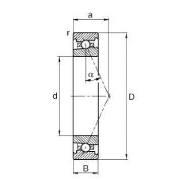 55 mm x 80 mm x 13 mm  FAG HS71911-E-T-P4S roulements à billes à contact oblique