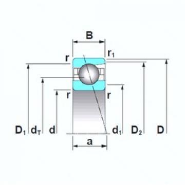 220 mm x 300 mm x 38 mm  NSK 7944CTRSU roulements à billes à contact oblique
