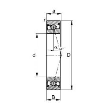 95 mm x 130 mm x 18 mm  FAG HCS71919-C-T-P4S roulements à billes à contact oblique