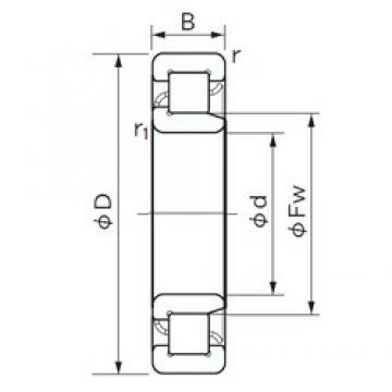 240 mm x 360 mm x 56 mm  NACHI NJ 1048 roulements à rouleaux cylindriques