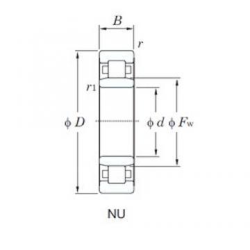 100 mm x 215 mm x 82.6 mm  KOYO NU3320 roulements à rouleaux cylindriques