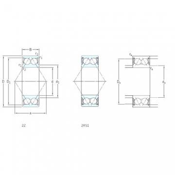 10 mm x 30 mm x 14,3 mm  SKF 3200A-2Z roulements à billes à contact oblique