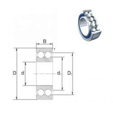 30 mm x 72 mm x 30,2 mm  ZEN 5306-2RS roulements à billes à contact oblique