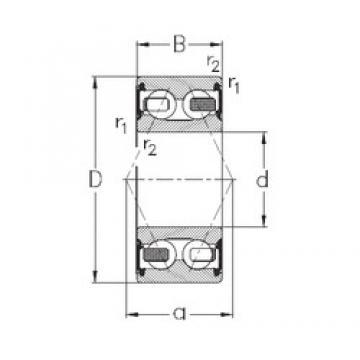 20 mm x 52 mm x 22,2 mm  NKE 3304-B-2RSR-TV roulements à billes à contact oblique