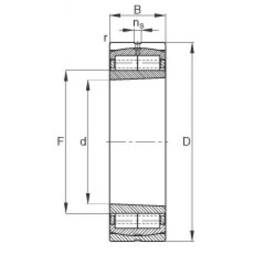 100 mm x 215 mm x 73 mm  FAG F-803158.ZL-K-C3 roulements à rouleaux cylindriques