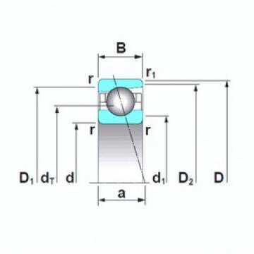 17 mm x 35 mm x 10 mm  NSK 7003CTRSU roulements à billes à contact oblique
