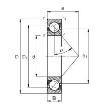 80 mm x 100 mm x 10 mm  FAG 71816-B-TVH roulements à billes à contact oblique