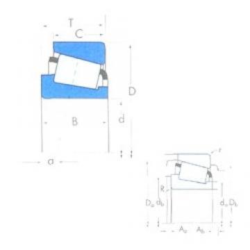 234,95 mm x 381 mm x 74,612 mm  Timken M252330/M252310 Roulements à rouleaux coniques