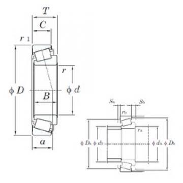 63,5 mm x 122,238 mm x 38,1 mm  KOYO HM212046/HM212011 Roulements à rouleaux coniques