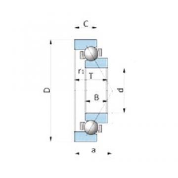 NSK BA230-7WSA roulements à billes à contact oblique