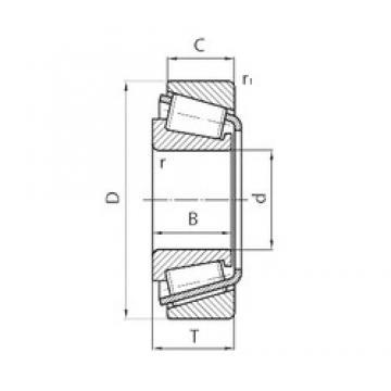 88,9 mm x 200 mm x 49,212 mm  Timken NP697931/NP241715 Roulements à rouleaux coniques