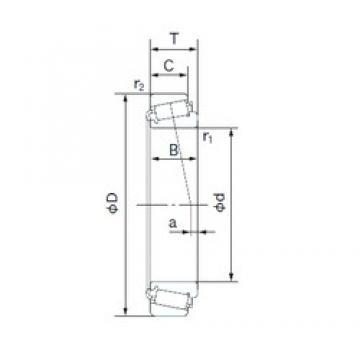 127.000 mm x 228.600 mm x 49.428 mm  NACHI HM926747/HM926710 Roulements à rouleaux coniques