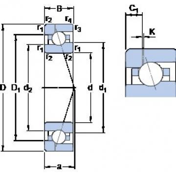 45 mm x 75 mm x 16 mm  SKF 7009 ACE/HCP4AH1 roulements à billes à contact oblique