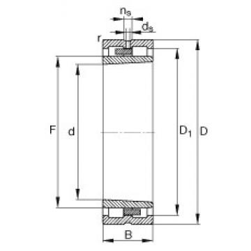 160 mm x 220 mm x 60 mm  FAG NNU4932-S-K-M-SP roulements à rouleaux cylindriques