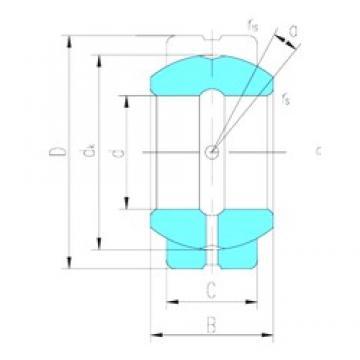 50,8 mm x 80,963 mm x 44,45 mm  LS GEZ50ES paliers lisses