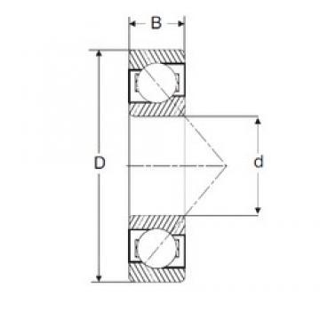 82,55 mm x 190,5 mm x 39,69 mm  SIGMA MJT 3.1/4 roulements à billes à contact oblique