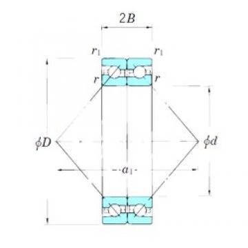 KOYO ACT064BDB roulements à billes à contact oblique
