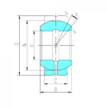 57,15 mm x 100,013 mm x 58,877 mm  LS GEGZ57ES-2RS paliers lisses