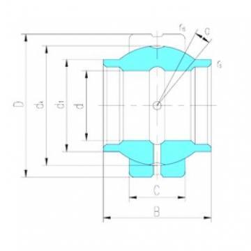 17 mm x 30 mm x 17 mm  LS GEEW17ES-2RS paliers lisses