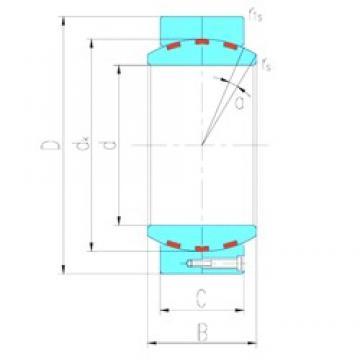 530 mm x 750 mm x 375 mm  LS GEH530HF/Q paliers lisses