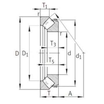 INA 29422-E1 roulements à rouleaux de poussée