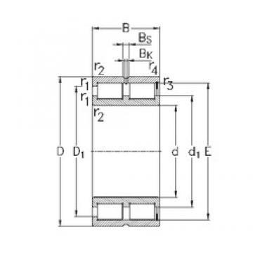 100 mm x 140 mm x 40 mm  NKE NNCF4920-V roulements à rouleaux cylindriques